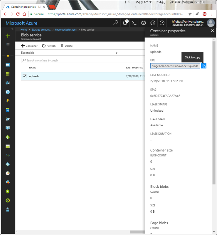 Backup SQL Server Database(s) to Azure Blob Container – DBA2 o